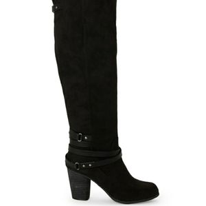 STEVE MADDEN Tall Knee High Faux Suede Boots